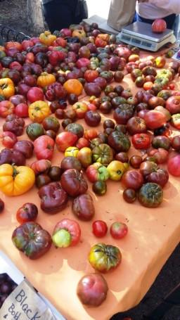 Tomaten auf dem Sonntagsmarkt am Central Park