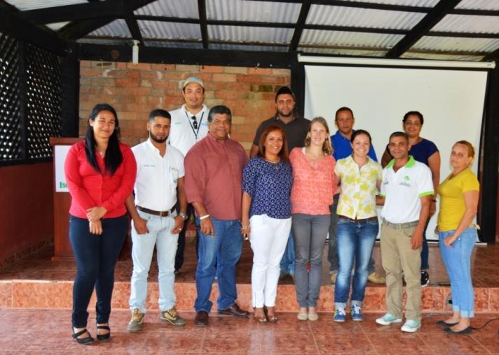 Obligatorisches Gruppenfoto mit fast allen Plan-Yaque-Kollegen