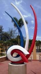 Komisches neues Denkmal in Jarabacoa