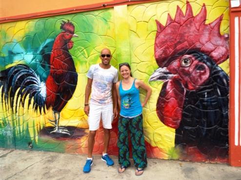Renzo und ich auf der Ruta de los Murales