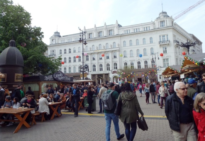 Frühlingsmarkt in der Innenstadt