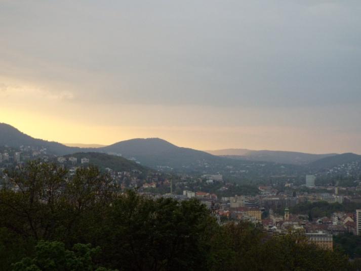 Blick auf die Budaer Berge