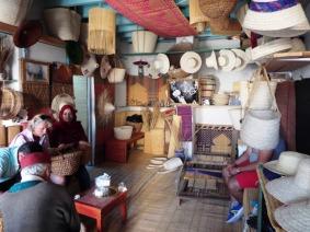 Verkaufsraum für Korb- und Hutwaren