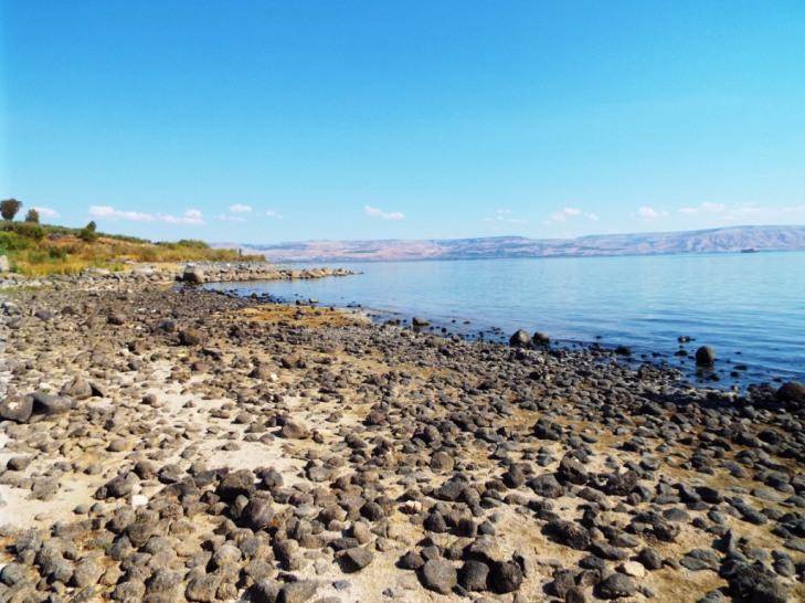 Am Ufer des See Genezareth