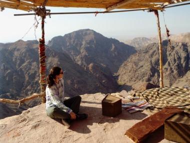Blick in die Negev-Wüste